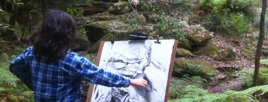 art class sydney, painting class sydney, painting workshops, landscape