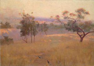 Landscape painting by Arthur Loureiro 1893