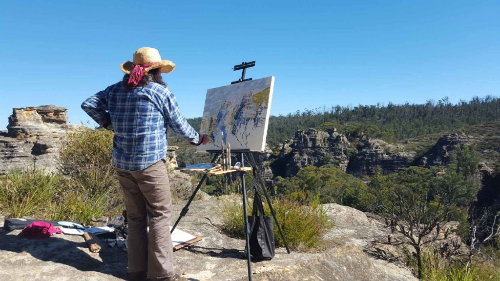 Ochre Lawson painting En Plein Air