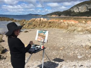 Tutor ochre lawsonen plein air painting
