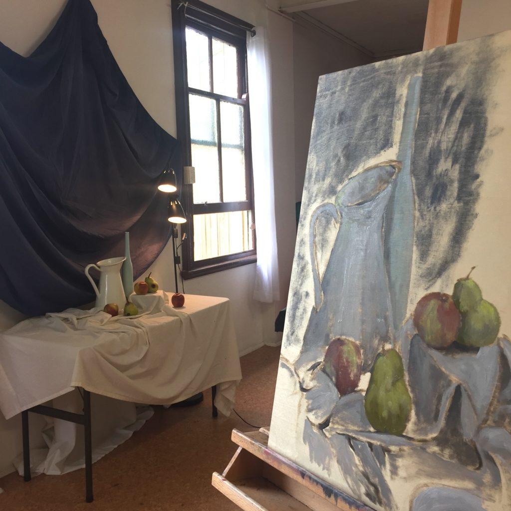 Painting a still life