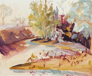 Landscape painting by Ochre Lawson