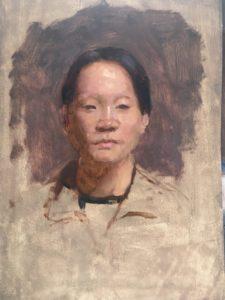 Portrait study by Matilda Mitchell