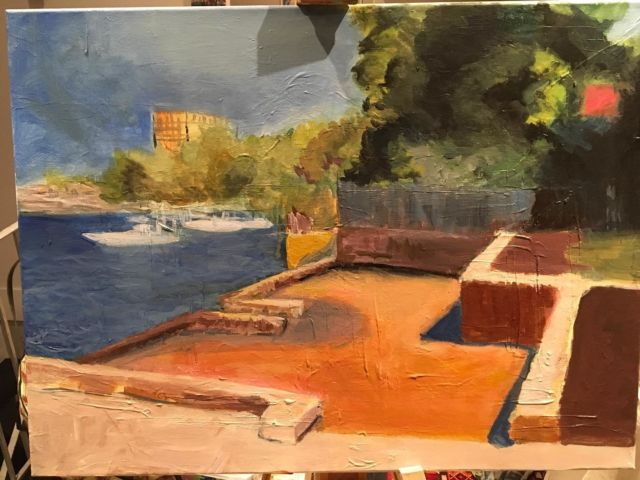 Landscapes inspired by Gaugin's colour pallets and some tonal palettes for beginners in Wednesday and Thursday painting classes. #artclasssydney #paintingclass #gaugin #colour #onlineartclass